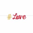 LOVE burtu baneris no folija  365x15 cm