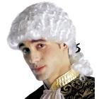 Markiza vīra parūka, baroka stils, baltā