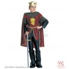 Karaliskā bruņinieka kostīms (128cm), mētelis, bikses, apavu pārvalki, apmetnis, kronis ar dārgakmeņiem