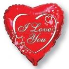 Balons folijas, sirds formas Love Hearts, izmērs 45cm