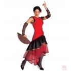 Spāņu kleita Lola - elastīgs audums, cimdi izmērs M