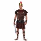 Romiešu virsnieka, karotāja kostīms, M/L izmērs - tunika ar krūšu bruņas un apmetni, manšetes un cepure