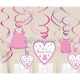 Ar mīlestību - Meitene spirāles dekoratīvās modernās mākslas dekori