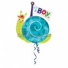 """Folijas hēlija balons bērna piedzimšanai """"Gliemezis"""", izmērs 63 x 73 cm,"""