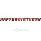 Papīra virtene dzimšanas dienai Nindzja, 320cm x 25cm. Komplektā ciparu formas uzlīmes 0-9