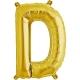 """Burtu balons """"D"""",  41cm, folijas figūra paredzēta piepūšanai ar gaisu"""