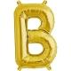 """Burtu balons """"B"""",  41cm, folijas figūra paredzēta piepūšanai ar gaisu"""
