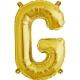 """Burtu balons """"G"""",  41cm, folijas figūra paredzēta piepūšanai ar gaisu"""