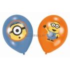 Minions  lateksa baloni ar krāsu apdruku 6.gab. 27.5 cm