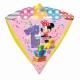 """Folijas hēlija balons dimanta formā """"1.dzimšanas diena"""", Diamondz ™, izmērs 38 x 43 cm,"""