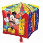 """Folijas hēlija balons kuba formā """"1.dzimšanas diena"""", Cubez ™, izmērs 38 x 38 cm,"""