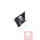 Pirāta karogs ar miroņgalvu, maziņš,  46cm х 29сm