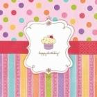 Papīra salvetes Saldumu ballīte - 33cm х 33cm 16 gab.