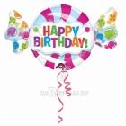 """Folijas hēlija balons """"Konfekte Dzimšanas dienai"""", izmērs 101 x 60 cm,"""