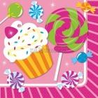 Papīra salvetes, Saldumu ballīte, izmērs - 33х33cm 16.gab.