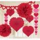 Telpu dekorēšanas komplekts uz Valentīna diena, sarkanās  papīra baloni