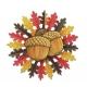 Ozolzīles - piekaramā dekorācija, divpusējā, diam. 56cm