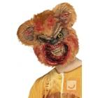 Zombija Lāča maska no putu lateksa ar kažokādu, brūna