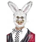 Baltā Zaķa maska no putu lateksa ar kažokādu, balta