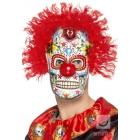 Mirušo dienas klauna maska, no putu lateksa, daudzkrāsaina
