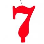 """Tortes svece staitlis """"7"""" , sarkanā, dzirkstošā, 9.5 cm"""