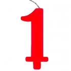 """Tortes svece staitlis """"1"""" , sarkanā, dzirkstošā, 9.5 cm"""