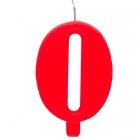 """Tortes svece staitlis """"0"""" , sarkanā, dzirkstošā, 9.5 cm"""