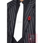 Gangstera kaklasaite ar gumiju, balta, 45cm