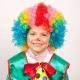 Daudzkrāsu  bērnu parūka