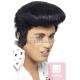 Elvisa Preslija parūka ar augsto čolku, melna, sintētika