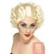 Holivudas stila parūka, blonda, īsa, cirtaina, sintētika