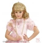 Baltā krāsā  meitenes parūka karnevālam un tiara