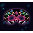 Melna maska  ornaments Tumsā spīdoša