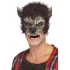 Vilkača pussejas maska, brūna, ar spalvām un zobiem