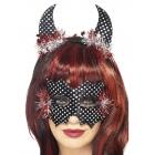 LAUMA maskas un taures, melnā un sudrabainā krāsu komplekts