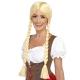Bavāriešu skaistules parūka - blonda ar divām bizēm, sintētika