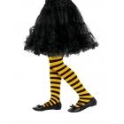 Strīpainas zeķubikses, dzeltenas ar melnu,6-12 gadi
