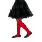 Punktotas zeķubikses, sarkanas ar melniem punktiem, 6 -12 gadi