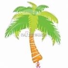 """Folijas hēlija balons """"Palma"""", izmērs 74 x 83 cm,"""