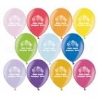 """Balons ar apdruku - Daudz Laimes Dzimšanas Dienā - Metaliks, 12""""/30cm, 1 gab., krāsas sortimentē"""
