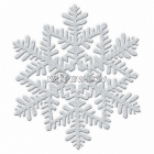 Sniegpārsliņa - piekaramā dekorācija, diam.10cm, ar  spīdumu, 4.gab
