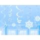 Ziemassvētku rotājumi Sniegpārslas un spirales 6+6 12,7 cm / 22,8 cm