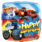 """Folijas hēlija balons """"Blaze unMonstrmašīnas - Dzimšanas Diena"""", izmērs43 cm"""