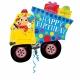 """Folijas hēlija balons """"Dzimšanas dienas mašīna ar dāvanām"""", izmērs 66 x 78 cm,"""