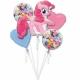 5 hēlija balonu komplekts MANS MAZAIS PONIJS  1 x liels balons 65-75 cm un 4 x 45 cm baloni.