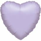 Gaiši violets sirds formas folijas balons piepūšams ar hēliju izmērs 43 cm