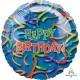 """Folijas hēlija balons dzimšanas dienai """"Celebration Streamers"""", izmērs 81 cm"""
