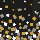 Salvetes zelts konfeti 33 cm 16.gab
