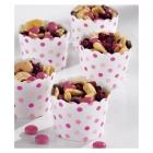 Uzkodu papīra mini-glāze rozā  6,1 x 6,1 x 4,4cm 36.gab.
