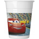 Plastmasas glāzes 8.gab DISNEY CARS 3